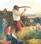 the mower by arthur hughes watercolor paintings