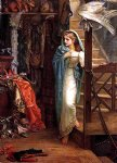 arthur hughes watercolor paintings - the property room by arthur hughes