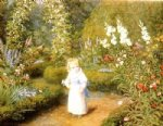 wonderland later version by arthur hughes painting