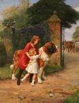 arthur john elsley art - safely guarded by arthur john elsley