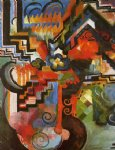 august macke colored composition painting