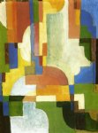 august macke colored forms i painting
