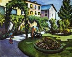 august macke famous paintings - garden picture by august macke