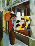 august macke famous paintings - hat shop by august macke