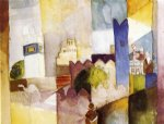 august macke famous paintings - kairuan iii by august macke