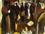 august macke famous paintings - leave by august macke