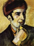august macke famous paintings - portrait of franz marc by august macke