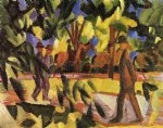 riders and strollers in the avenue by august macke famous paintings