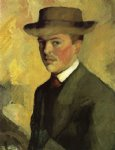 self portrait with hat by august macke famous paintings