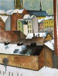 st mary s in the snow by august macke famous paintings