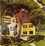staudacher s house at tegernsee by august macke famous paintings