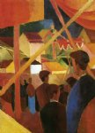 august macke tightrope walker painting