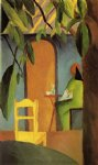 august macke turkish cafe ii painting