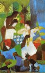 august macke turkish jewel trader painting