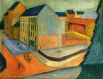 august macke artwork - unsere strasse mit reitbahn bonn by august macke