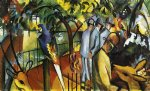 august macke zoological garden i print