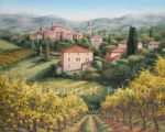 a vineyard view by barbara felisky acrylic paintings