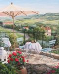 balcony overlooking vineyards by barbara felisky acrylic paintings