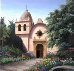 carmel mission by barbara felisky acrylic paintings