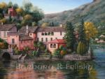 barbara felisky lake orta italy painting