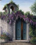 ravello wisteria by barbara felisky painting