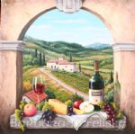barbara felisky scene with the vinyard road prints