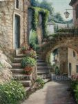 stone archway france by barbara felisky painting