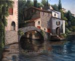 barbara felisky the bridge at nesso painting