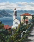 barbara felisky the church at nesso painting