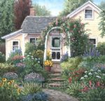 barbara felisky the yellow house garden painting