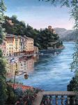 view of portofino harbor by barbara felisky acrylic paintings