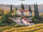 barbara felisky vineyard in autumn tuscany painting