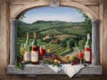 framed paintings - vineyard reveries by barbara felisky