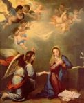bartolome esteban murillo print - annunciation by bartolome esteban murillo