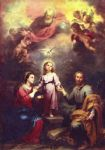 bartolome esteban murillo print - two trinities by bartolome esteban murillo
