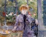 berthe morisot acrylic paintings - after luncheon by berthe morisot