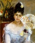 berthe morisot art - at the ball by berthe morisot