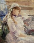 berthe morisot acrylic paintings - behind the blinds by berthe morisot