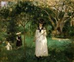 butterfly acrylic paintings - butterfly hunt by berthe morisot