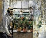 berthe morisot acrylic paintings - eugene manet on the isle of wight by berthe morisot