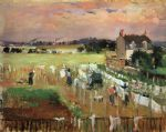 berthe morisot acrylic paintings - hanging out the laundry to dry by berthe morisot