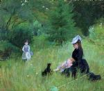 in a park by berthe morisot painting