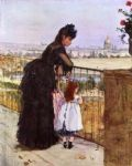 on the balcony by berthe morisot painting