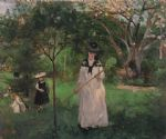 butterfly acrylic paintings - the butterfly hunt by berthe morisot