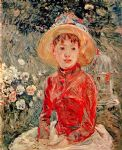 berthe morisot young girl with cage painting