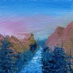 a mighty river canyon by bob ross painting