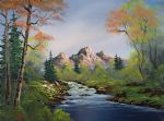bob ross a touch of autumn painting