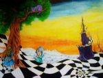bob ross alice in wonderland 85970 painting