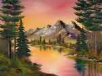 bob ross autumn fantasy painting