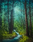 bob ross deep woods stream 86010 painting